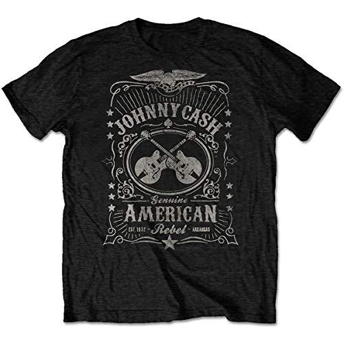 Johnny Cash JCTS11MB03 T-Shirt, Black, Large