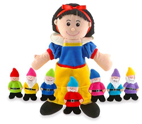 Fiesta Crafts-T-2310 Ensemble de Marionnettes à Main et Doigts Blanche Neige, T-2310, Vert Slime
