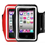2Pack CaseHQ Water Resistant Cell Phone Armband Case Compatible Phone iPhone 11, 11 Pro, 11 Pro Max, X, Xs, Xs Max, Xr, 8, 7, 6, Plus Galaxy S10, S9, S8, S7,and More. Adjustable Band & Key Slot