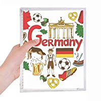 ドイツの愛の心の風景の国旗 硬質プラスチックルーズリーフノートノート