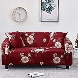 Fundas con Estampado Floral Fundas de sofá a Cuadros elásticos para Sala de Estar Funda elástica para Silla de sofá Toalla de sofá Decoración para el hogar A28 2 plazas