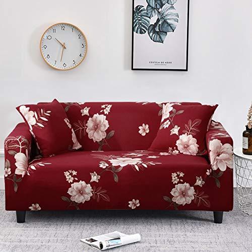 ASCV Elastische Sofabezug Plaid Sofabezüge für Wohnzimmer Voll umwickelte Couch Stuhlbezug Sessel Anti-Staub-Möbelschutz A19 4-Sitzer