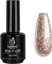 Beetles Gel No Wipe Top Coat - Shine Finish and Long Lasting, Soak Off Nail Lamp Gel, 15ml