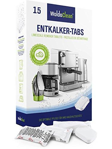 Entkalker Kaffeevollautomat 15 Tabs Entkalkungstabletten für Kaffeemaschine - 16g Tabletten kompatibel mit allen Herstellern.