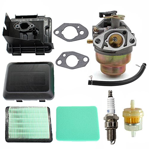 AISEN Carburateur et Filtre à Air Couvrir Base pour GC135 GCV135 GC160 GCV135 GCV160 GCV190 Tondeuse à gazon Remplace 17231-ZM0-000, 17220-ZM0-000