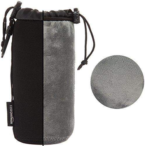 Sony SEL-55210 Tele-Zoom-Objektiv (55-210 mm, F4.5-6.3, OSS, APS-C, geeignet für A6000, A5100, A5000 und Nex Serien, E-Mount) schwarz & Amazon Basics - Wasserdichte Schutzbeutel für Kameraobjektiv