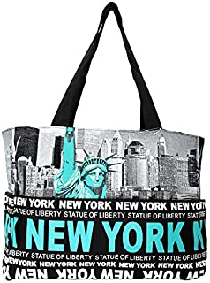 73ff8699f6d2f Robin Ruth NY Statue of Liberty Skyline Canvas Tote Shoulder Bag