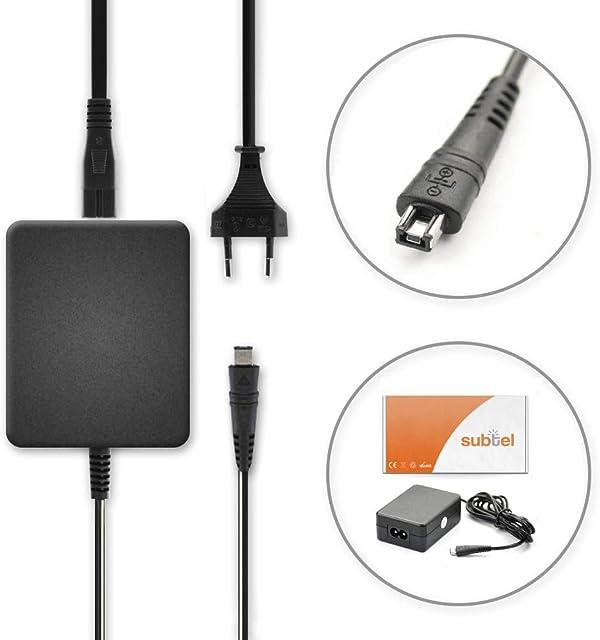 subtel® Fuente alimentación Compatible con Canon LEGRIA Mini X HF R806 R88 R86 R77 R66 R606 R506 R500 R406 R36 R306 R26 HF M56 VIXIA Mini X HF R400 R52 T50 R300 R20 Cargador CA-110 Cable Corriente