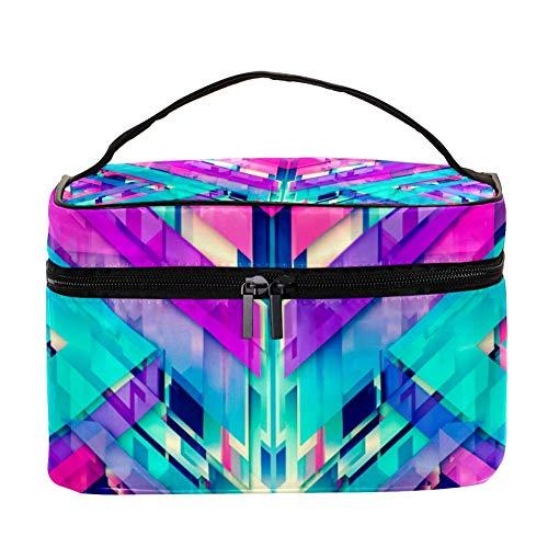 EZIOLY Graphics Digital Art Abstrait Femmes Accessoires de voyage portables avec poche en maille Maquillage Sacs cosmétiques Organisateur de rangement Multifonction