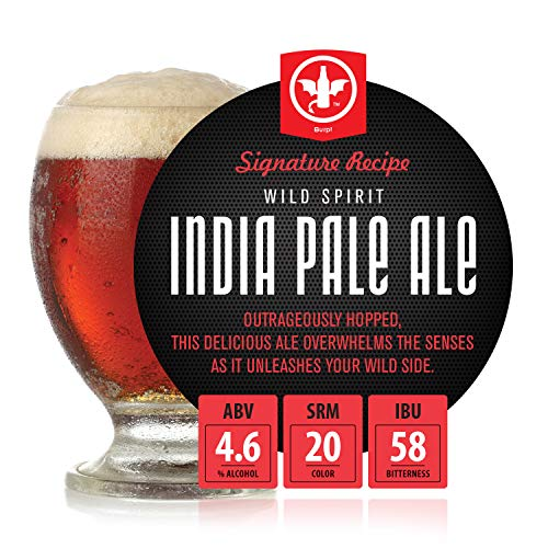 BrewDemon 1 Gal. Wild Spirit IPA Beer Recipe Kit - Makes a Wicked-Good 4.6% ABV Batch of Craft Brewed Beer