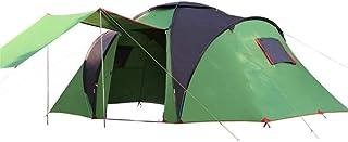 Campingtält enkel inställning 4-6 personer familj kupol tält vattentätt dubbelt lager stort tak solskydd utomhus camping (...