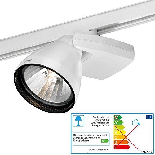 Kento Strahler weiß HQI HCI für Stromschiene Leuchte für 50 Watt Philips CDM Lampe Flood
