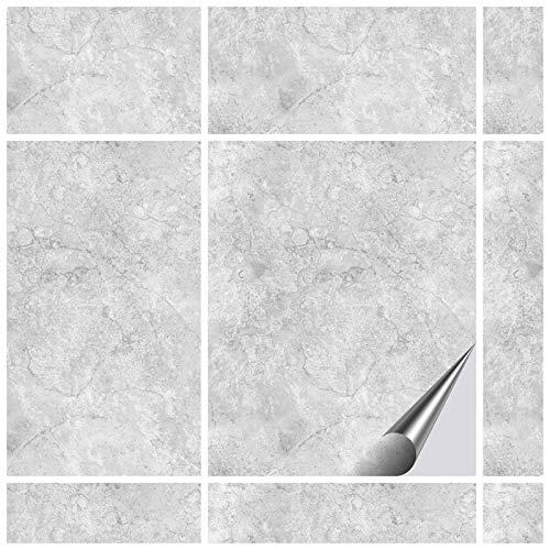 FoLIESEN Fliesenaufkleber 20x25 cm - Fliesen-Folie Bad - Klebefolie Küche - 15 Klebefliesen, Dekor Gorreto