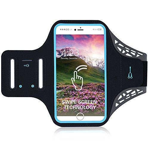 iPhone 7/siete brazalete, Cheeroyal impermeable correr sudor libre de deporte mp3 brazalete...