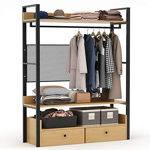 Tribesigns Free-Standing Closet Organizer,Heavy Duty Clothes...