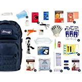 Complete Earthquake Bag - Most Popular Emergency kit for Earthquakes, Hurricanes, floods + Other disasters (2 Person, 3 Days, Blue Bag) (2 Person)