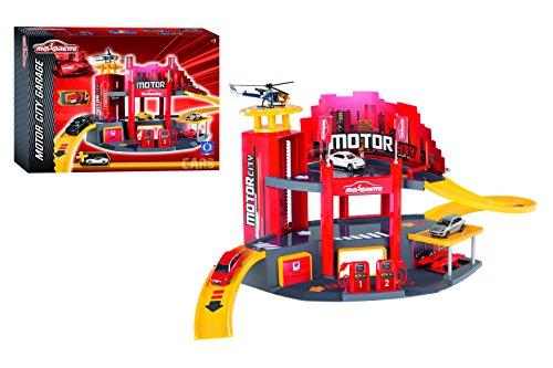 Majorette - Garage Motor City - 1 Véhicule Inclus - Ascenseur + Atelier Mécanique - Fabriqué en France - 212058211