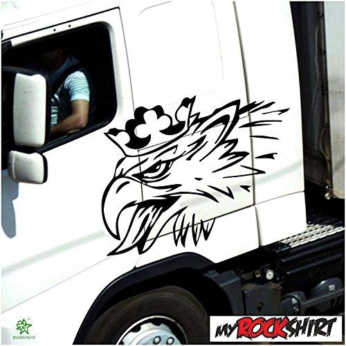 myrockshirt Scania Greiff Adler 70x50cm LKW Truck Trucker Aufkleber Anhänger Sticker `+ Bonus Testaufkleber Estrellina-Glückstern ®, gedruckte Montageanleitung
