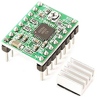 AZDelivery A4988 DMOS Stepper Motor Driver RepRap Ramps with Headers and Heatsink compatible with Arduino including E-Book!