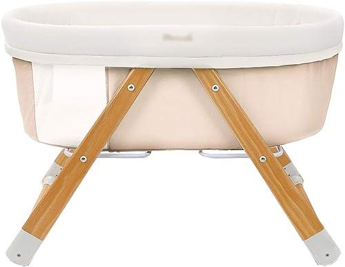 Babybett Babybett Multifunktions Wood Cradle Bett EuropäischenStil faltbar (Farbe   Beige)