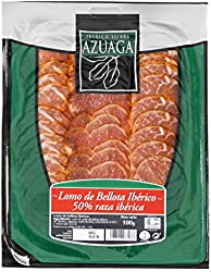 Azuaga LONCHAS Lomo Bellota iberico 50% raza iberica- 100 gr