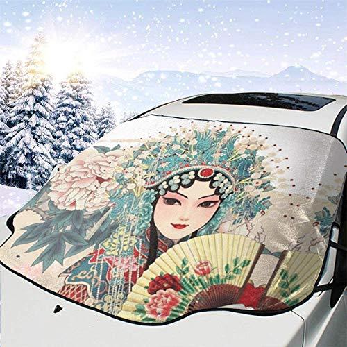 lovely baby-Z Pekín Opera Anime - Cubierta para parabrisas de coche, quitahielo para protección de invierno, ajuste universal para coches, camiones, furgonetas y SUV, grueso y grande