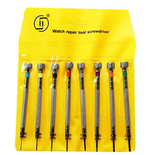 8PCS Uhr-Reparatur-Werkzeug Schraubendreher-Set Micro-Präzisions-Schraubenzieher-Set Uhr Brill Schmuck Reparatur-Werkzeug-Kits