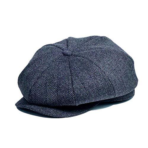 rosemaryrose Boinas Hombre Peaky Blinders Gorra Plana Newsboy para Hombre Tommy Shelby Peaky Blinders Herringbone Gatsby -Baker Boy Hat