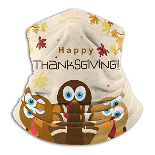 Ewtretr Happy Thanksgiving Truthahn Halsmanschette Wärmer Männer Frauen Warm Winddicht Halswärmer
