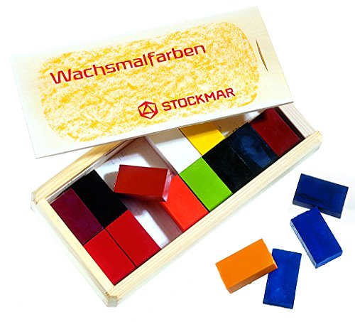 Stockmar Beeswax 16 Block Crayons in Wooden Storage Case