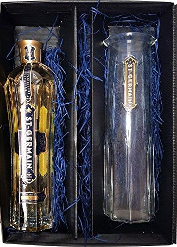 St Germain Geschenkset - St. Germain Elderflower/Holunderblüten Likör 0,7l 700ml (20% Vol) + Karaffe