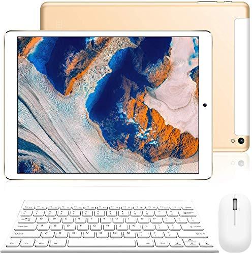 mediacom tablet 10 pollici 4G Tablet 10.1 Pollici con Wifi Offerte Tablet PC Offerte Android 9.0 8500mAh con Slot per Scheda SIM Doppio Memoria RAM da 3GB+32GB 8MP Camera Quad Core Tablet Sbloccato WiFi/Bluetooth/ GPS/OTG