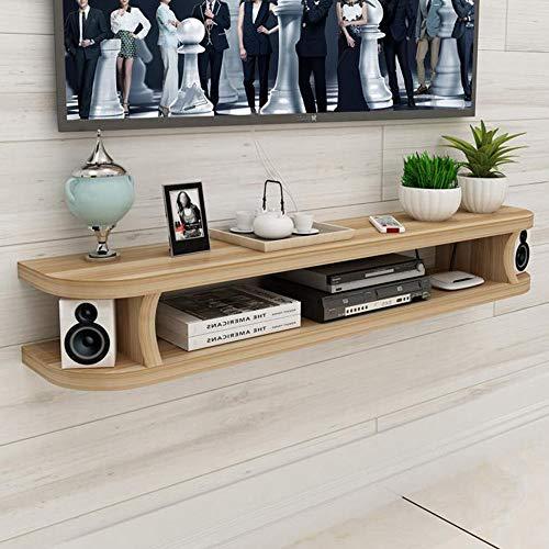 Mobile TV a parete con mensola sospesa, scaffale portaoggetti per componenti TV console multimediale, mensola a muro sfondo muro TV soggiorno/C / 120cm