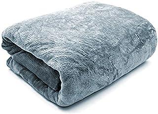 Feigu Flannel Fleece Blanket King Size 200×220cm for All Season,Soft Blankets for Bedsheet or sofa بطانية ناعمة سادة