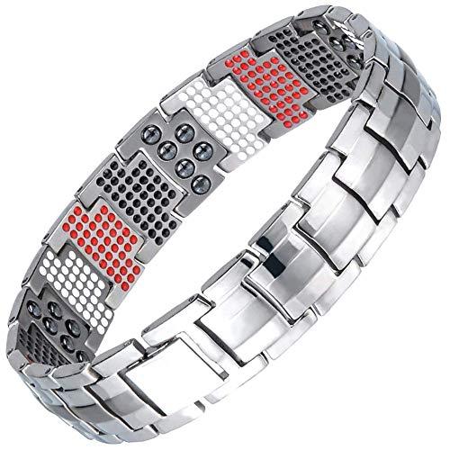 Stijlvolle Simplicity Magnetische stijlvolle Simplicity armband mannen titanium 4in1 multielement extra krachtige magnetische styling simplicity armband mannen artritis pain reliëf stijlvolle eenvoudigere armbanden, goud, wit