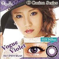 カラコン 度なし 1箱2枚入り QuoRe Carina Series/ソブレ/119223 14.0mm【VogueViolet--0.00】