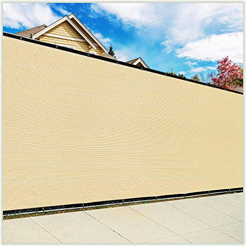 ColourTree 3' x 10' Balcony Railing Shade Fabric Deck Fence Privacy Screen Tarp Plant Greenhouse Netting Mesh Cloth Beige - Commercial Grade 170 GSM Heavy Duty 3 Years Warranty CUSTOM SIZE AVAILABLE