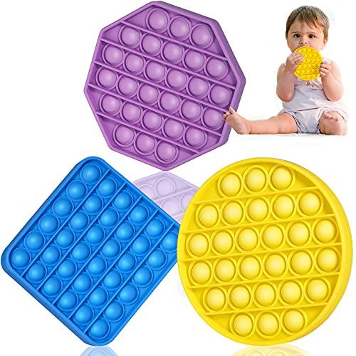 SHARLOVY Pop Fidget Toys Push Bubble Pop Fidget Autism Sensory Toys for Toddlers 1-3 Squeeze Sensory...