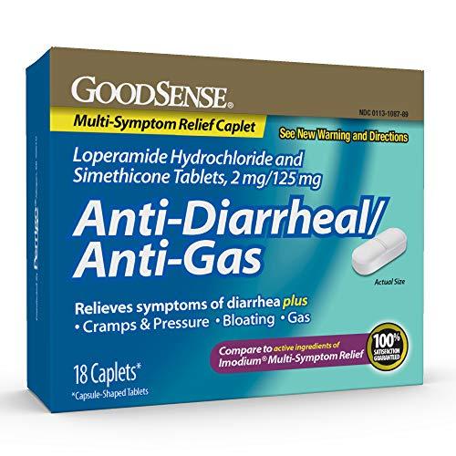 GoodSenseLoperamide Hydrochloride and Simethicone Tablets, 2 mg/125 mg, Anti-Diarrheal and Anti-Gas