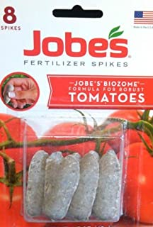 Jobes Fertilizer Spikes Jobe`s Biozome Formula for Robust Tomatoes 8 Spikes