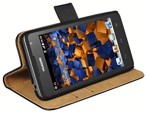 mumbi Tasche Bookstyle Hülle kompatibel mit Huawei Ascend Y530 Hülle Handytasche Hülle Wallet, schwarz