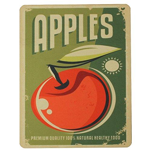 Macosa PA31030 afdruipmat appel vintage design | zelfdrogend | voor glazen & servies | afdruipmat afdruipbak gootsteen