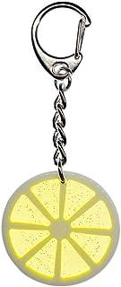 Miniblings Limone Fetta di Limone dell'anello Chiave della Catena Portachiavi Giallo