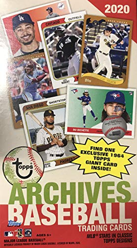 2020 Topps Archives Baseball Series Unopened Blaster Box of Packs with one BLASTER EXCLUSIVE 1964 Giants Oversized Card