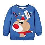 Felpe Sportive del Natale cervi per Bambine e ragazze Pullover Bambini a Manica Lunga Maglione Vine 12 mesi
