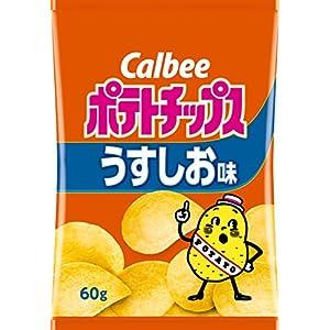"""カルビー ポテトチップス うすしお味 60g×12袋"""""""