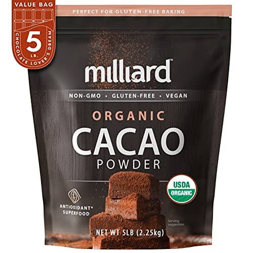 Milliard Organic Cacao Powder / Non-GMO and Gluten Free (5 pound (pack of 1))