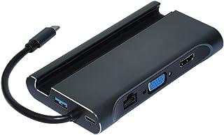 الملحقات - محول من النوع C - محطة توصيل من النوع c hdmi USB 3.0 HDMI VGA RJ45 PD USB لأجهزة الكمبيوتر المحمول Macbook Pro ...