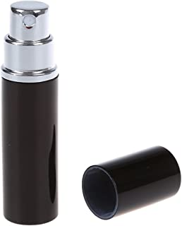 Gleader BLACK REFILLABLE METAL ATOMISER PERFUME SPRAY BOTTLE HOLIDAY HANDBAG AFTERSHAVE