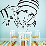 YHZSML Adesivo Decorativo Donna Decorazioni per la casa Impermeabili per camerette Adesivi murali Arte per pareti L 43 cm x 58 cm
